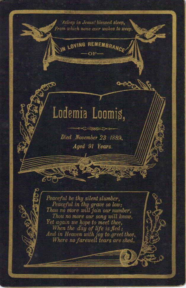 Figure 2: Lodema Sackett Prayer Card