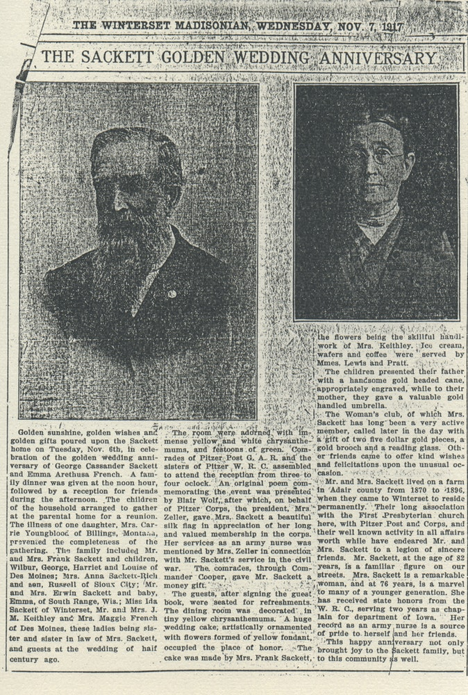 Figure 3: Newspaper clipping from the day